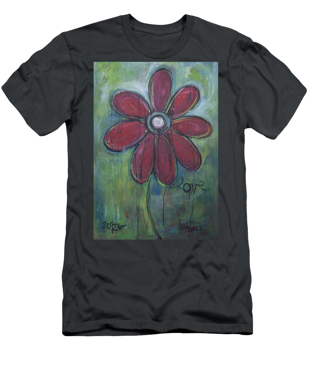 Daisey Men's T-Shirt (Athletic Fit) featuring the painting Big Love Daisey by Laurie Maves ART