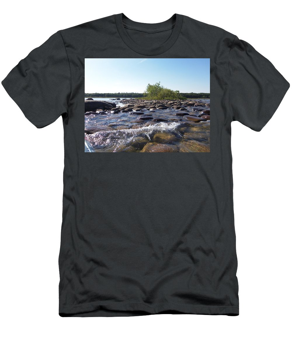 Port Austin Men's T-Shirt (Athletic Fit) featuring the photograph Bird Island by Two Bridges North