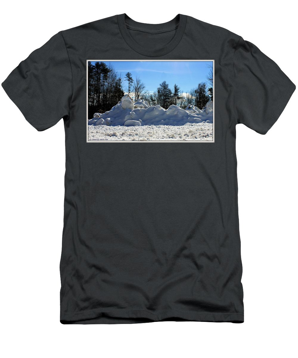 Angle Of Shot Men's T-Shirt (Athletic Fit) featuring the photograph Bird's Eye View by Catherine Melvin