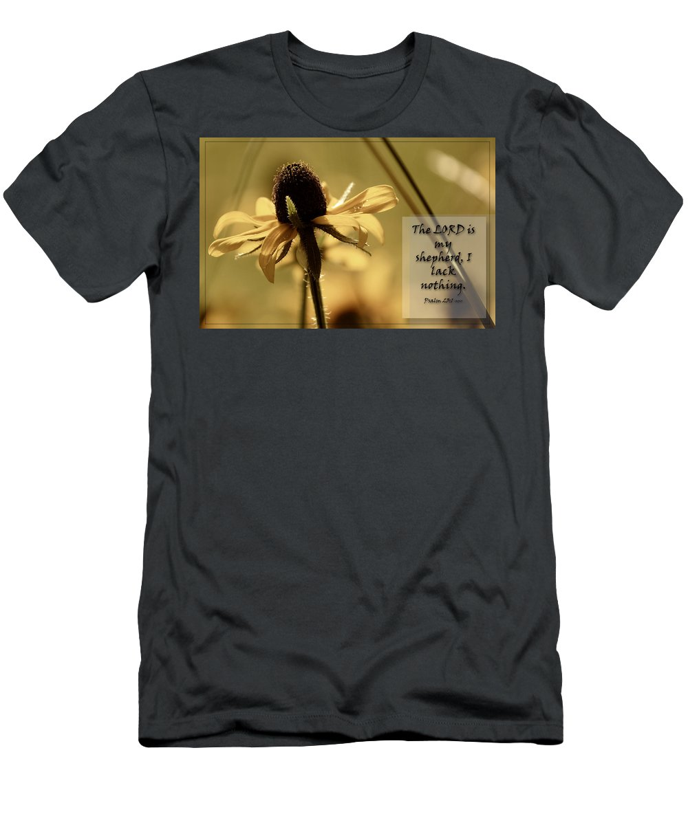Black-eyed Susan Men's T-Shirt (Athletic Fit) featuring the photograph Black-eyed Susan Psalm by Karen Beasley