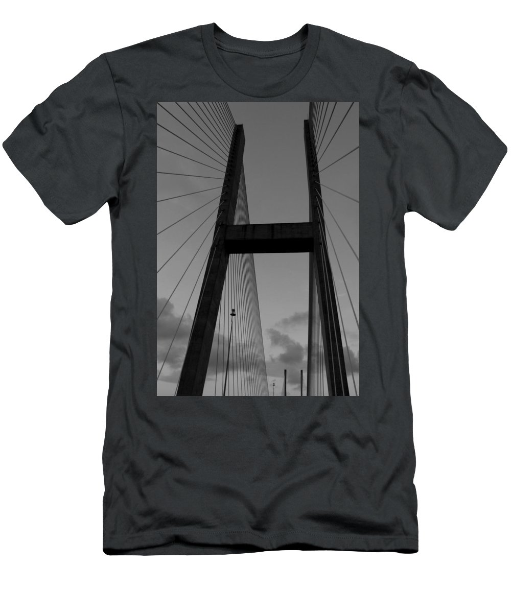 Bridge Men's T-Shirt (Athletic Fit) featuring the photograph Black H by Laurie Perry