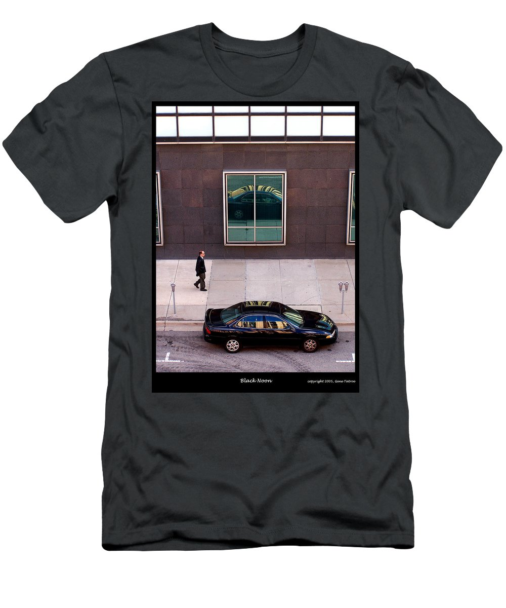 Urban Men's T-Shirt (Athletic Fit) featuring the photograph Black Noon by Gene Tatroe