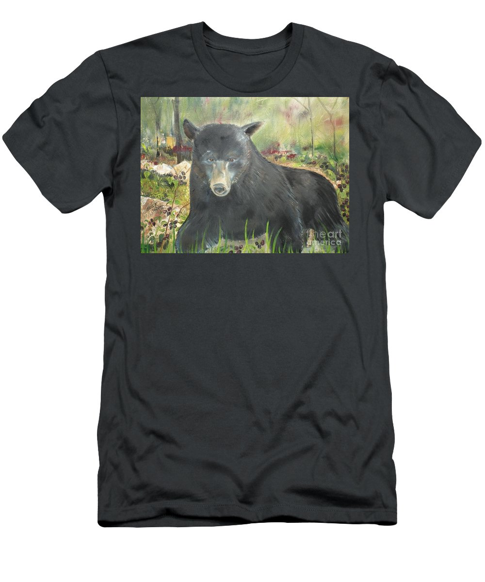 Men's T-Shirt (Athletic Fit) featuring the painting Blackberry Scruffy 2 by Jan Dappen