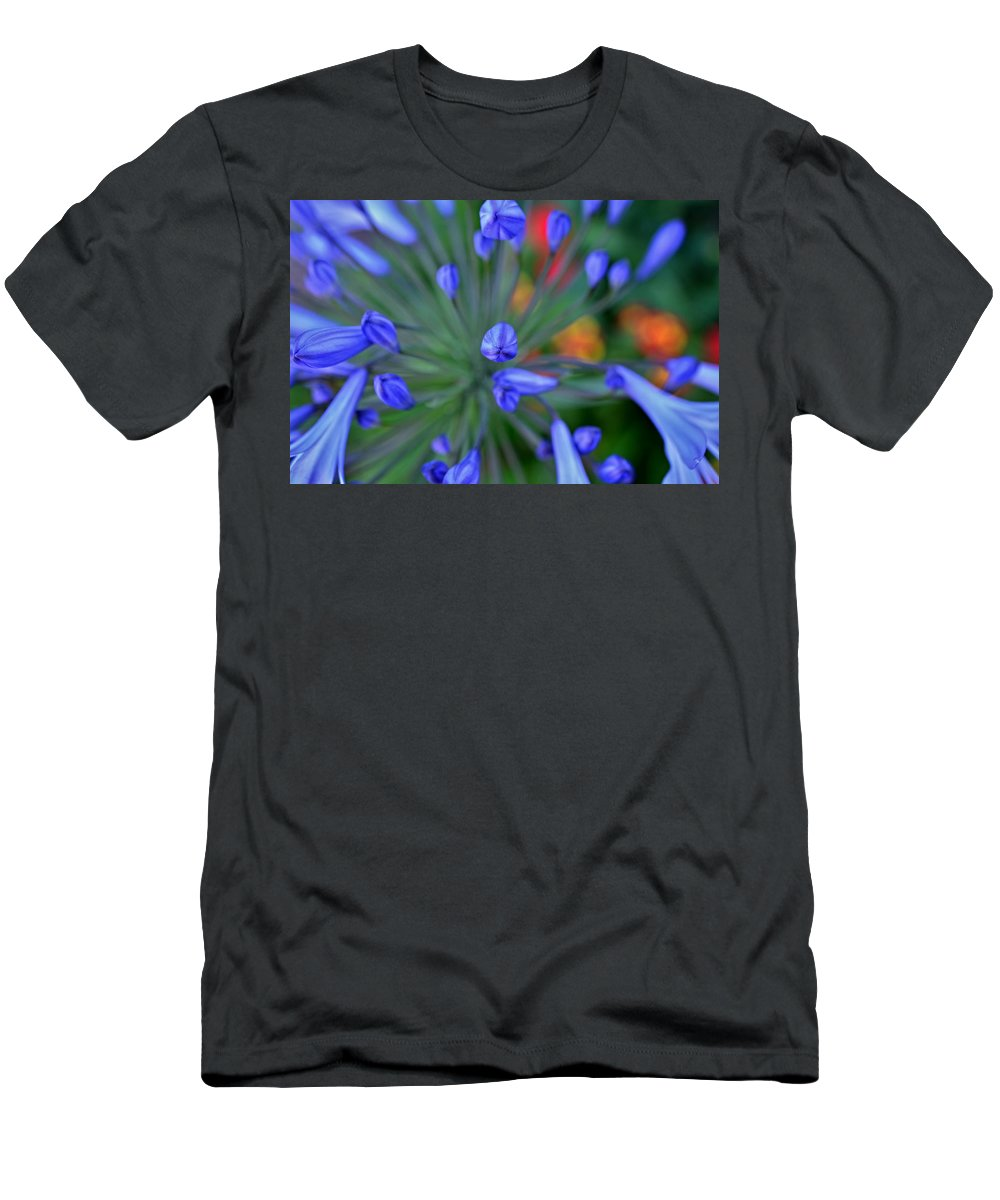 Agapaanthus Men's T-Shirt (Athletic Fit) featuring the photograph Blooming Blues by See My Photos