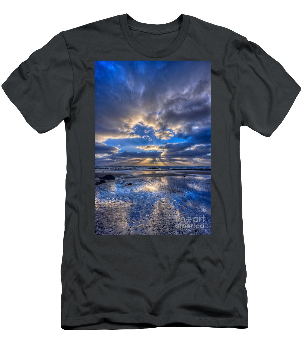 Storm Men's T-Shirt (Athletic Fit) featuring the photograph Blue by Beth Sargent