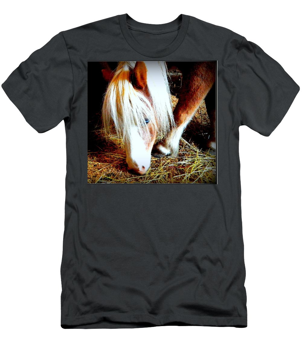 Blue Eyes Men's T-Shirt (Athletic Fit) featuring the photograph Blue-eyes Mini by Kathy Barney