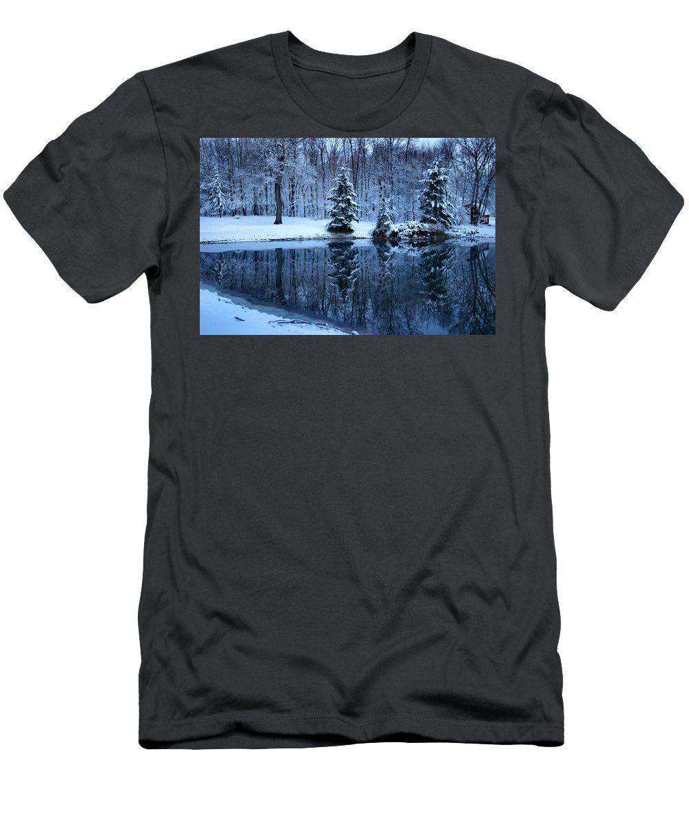 Ice Men's T-Shirt (Athletic Fit) featuring the photograph Blue by Kristin Elmquist
