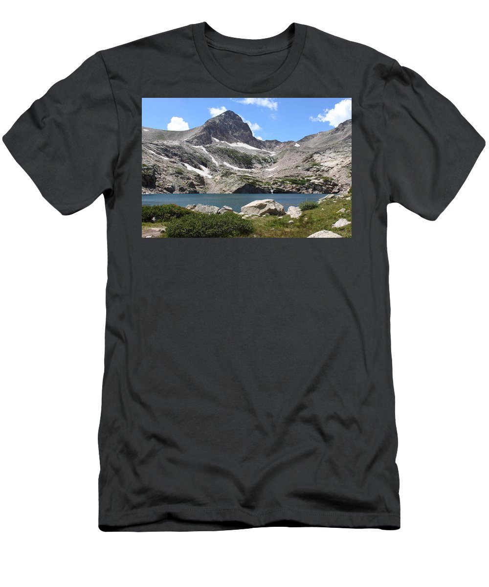 Colorado Men's T-Shirt (Athletic Fit) featuring the photograph Blue Lake by Eric Glaser