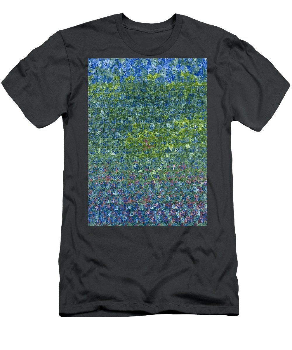 Bluebells Men's T-Shirt (Athletic Fit) featuring the painting Bluebells by Leigh Glover