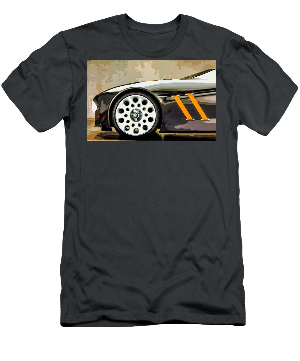 New Men's T-Shirt (Athletic Fit) featuring the painting Bmw 33 by Jeelan Clark