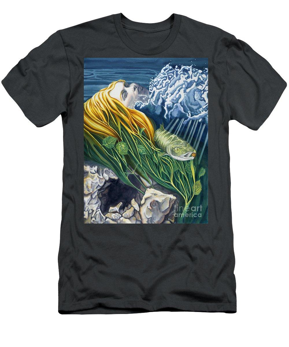 Boann Men's T-Shirt (Athletic Fit) featuring the painting Boann Transformation Of A Goddess by Do'an Prajna - Antony Galbraith