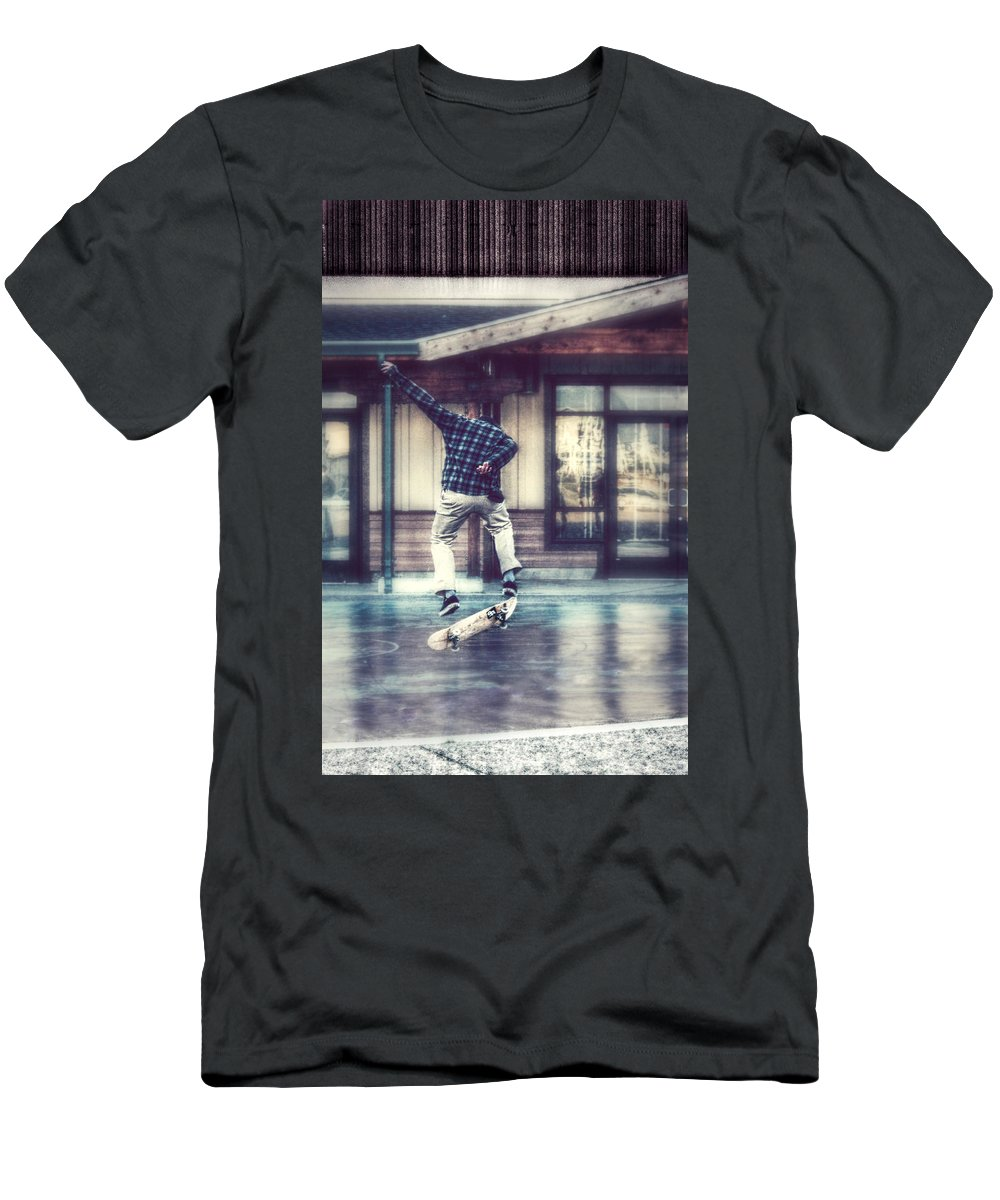 Skateboard Men's T-Shirt (Athletic Fit) featuring the photograph Boarder Bliss by Melanie Lankford Photography