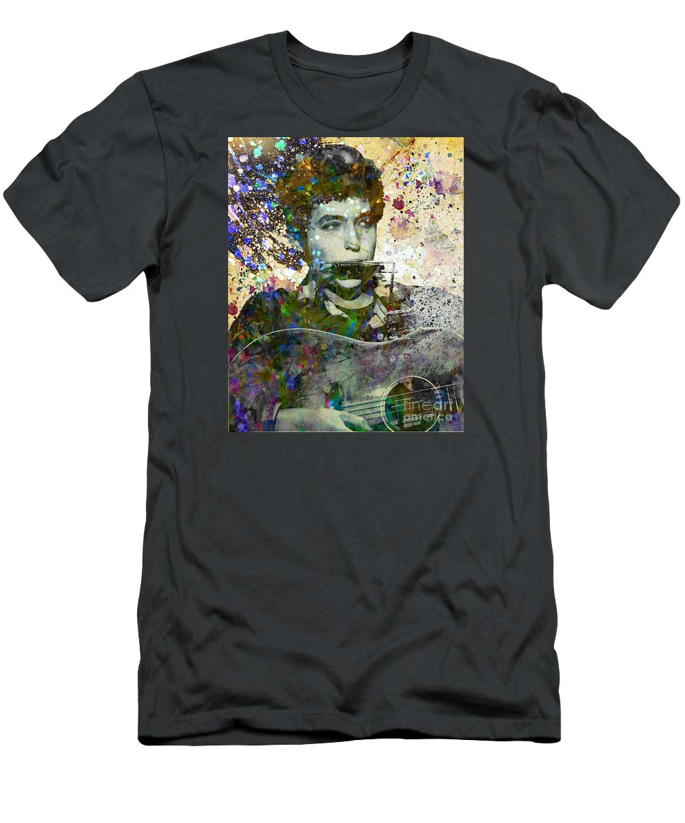 60s T-Shirt featuring the painting Bob Dylan Original Painting Print by Ryan Rock Artist