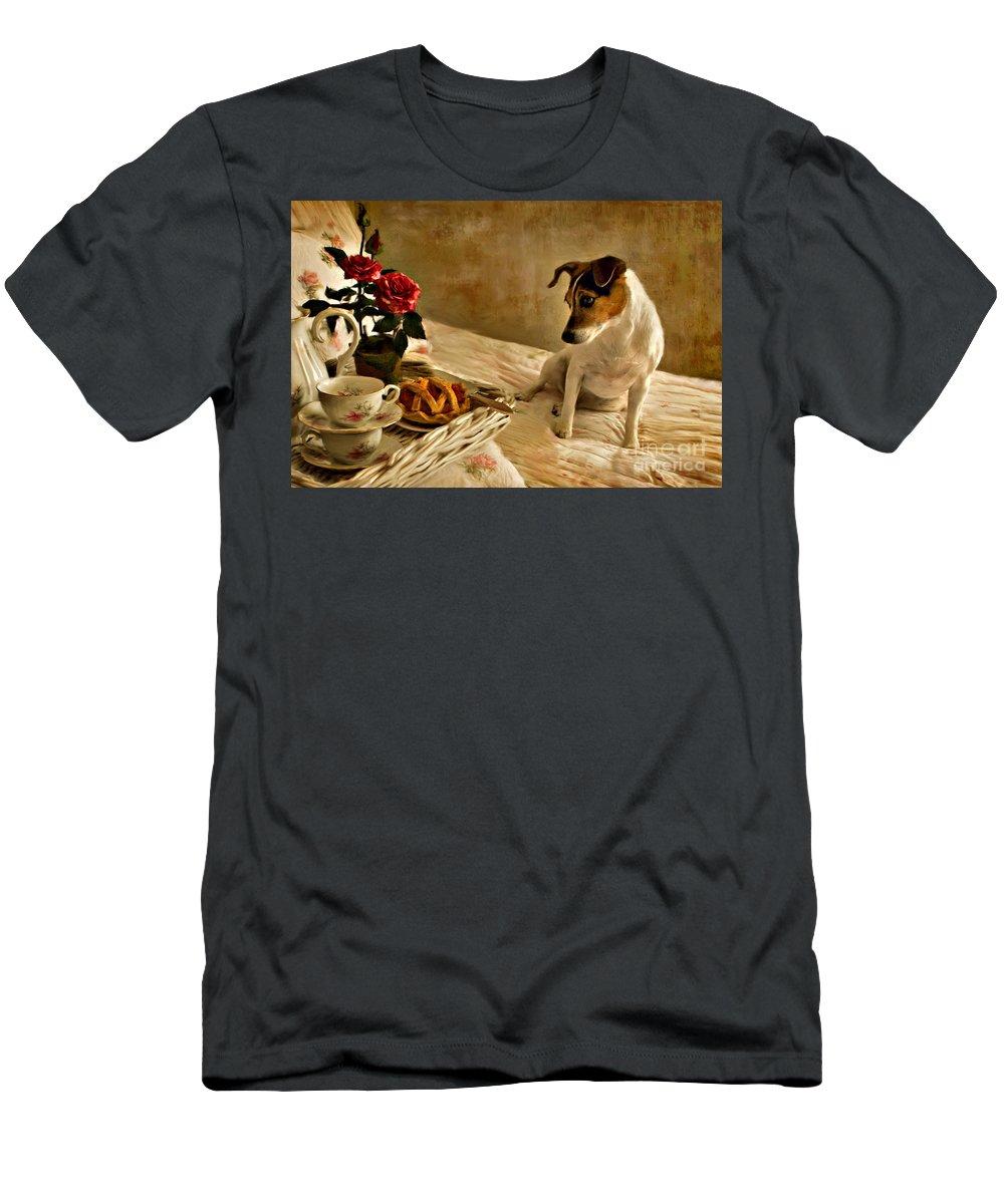 Men's T-Shirt (Athletic Fit) featuring the photograph Bon Appetit by Jean Hildebrant
