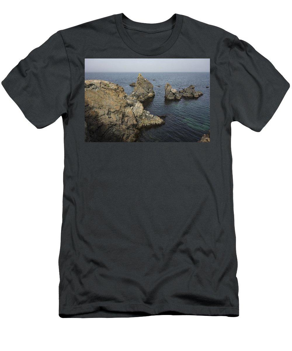 Newfoundland Men's T-Shirt (Athletic Fit) featuring the photograph Bonavista Rocks by David Stone