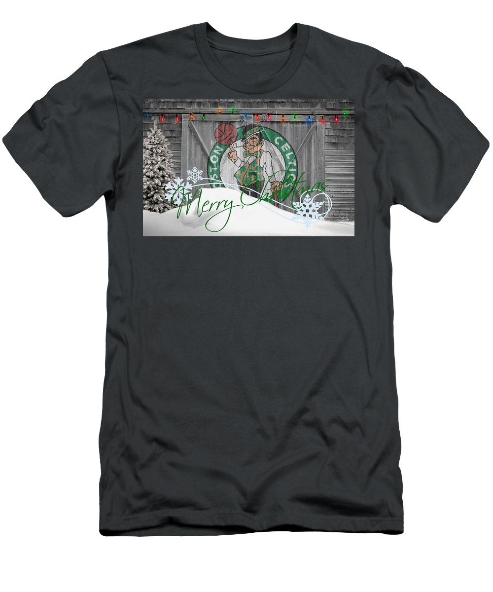 Celtics Men's T-Shirt (Athletic Fit) featuring the photograph Boston Celtics by Joe Hamilton
