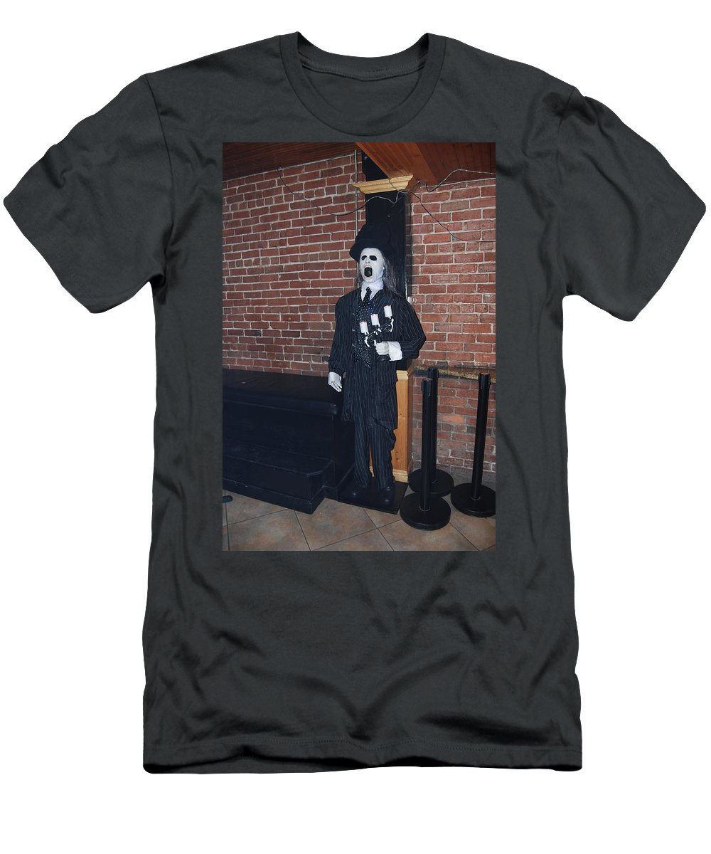 Welcome To Neo. Downtown Fort Myers Men's T-Shirt (Athletic Fit) featuring the photograph Bouncer by Robert Floyd