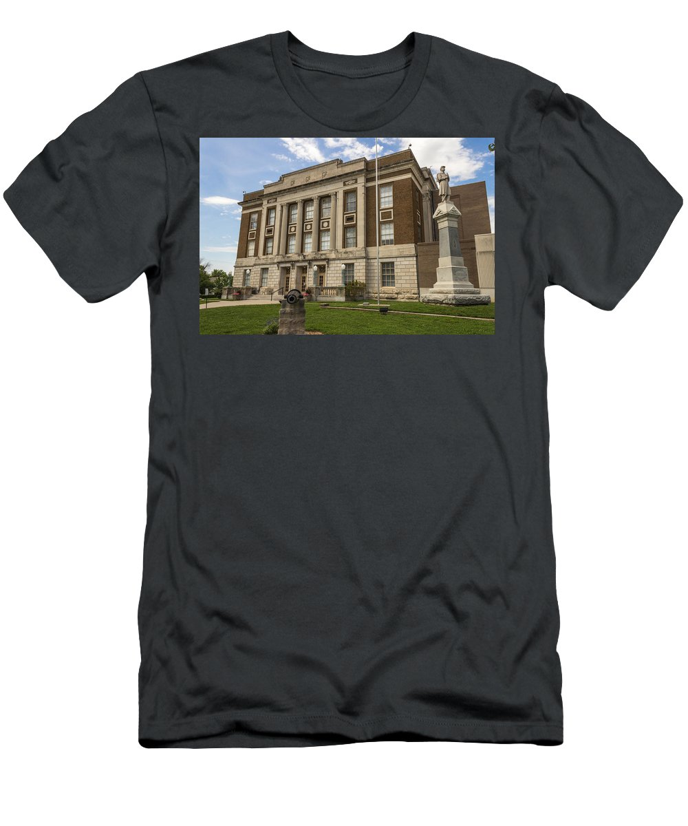 Court Men's T-Shirt (Athletic Fit) featuring the photograph Bourbon County Courthouse 5 by Ken Kobe