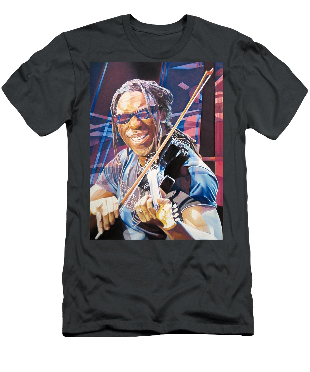 Boyd Tinsley Men's T-Shirt (Athletic Fit) featuring the drawing Boyd Tinsley And 2007 Lights by Joshua Morton