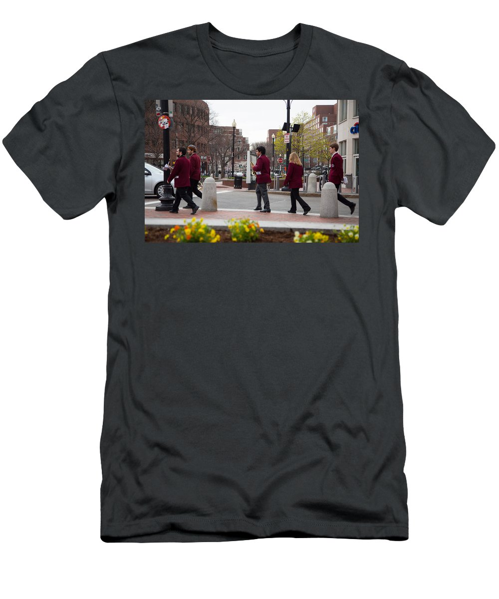 Musicians Men's T-Shirt (Athletic Fit) featuring the photograph Brattle Street by Allan Morrison