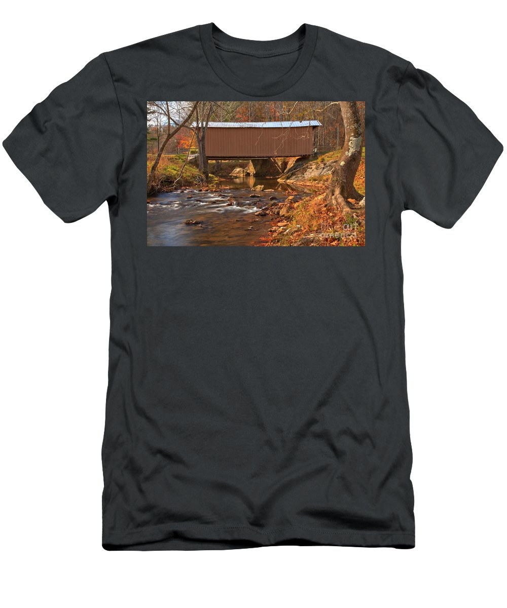 Smith River Men's T-Shirt (Athletic Fit) featuring the photograph Bridge Over Smith River by Adam Jewell