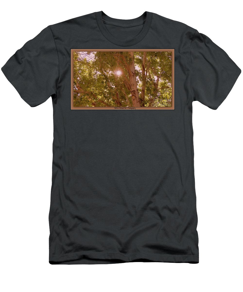 Sunlight Men's T-Shirt (Athletic Fit) featuring the photograph Bright Light by Bobbee Rickard