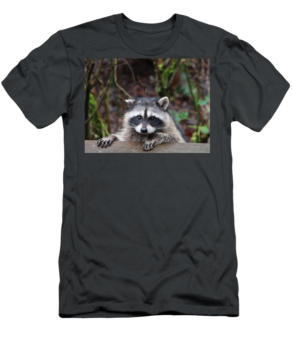 Animals Men's T-Shirt (Athletic Fit) featuring the photograph Broken Ear But Still Cute by Kym Backland