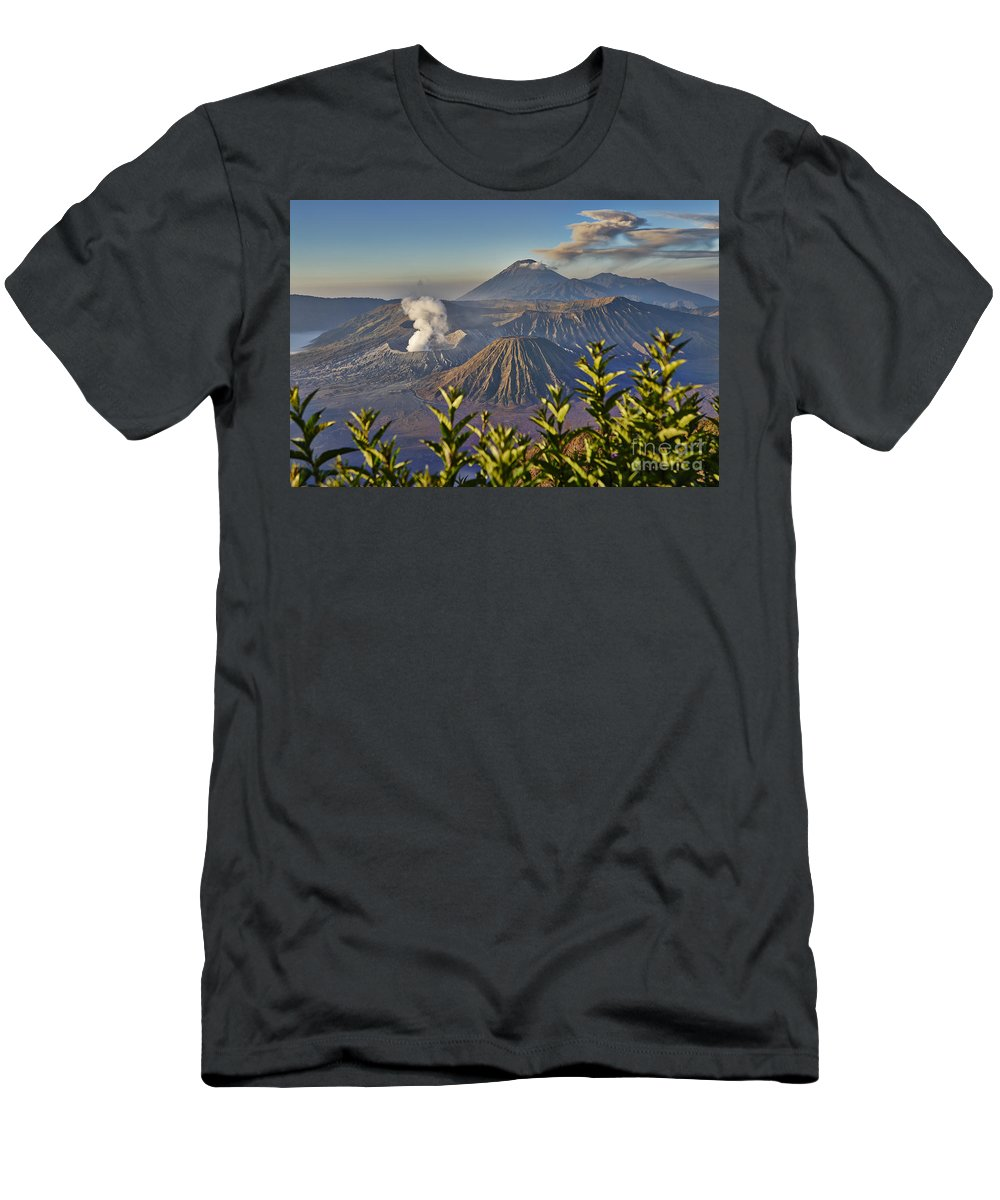 Adventure Men's T-Shirt (Athletic Fit) featuring the photograph Bromo Tengger Semeru National Park by Juergen Ritterbach
