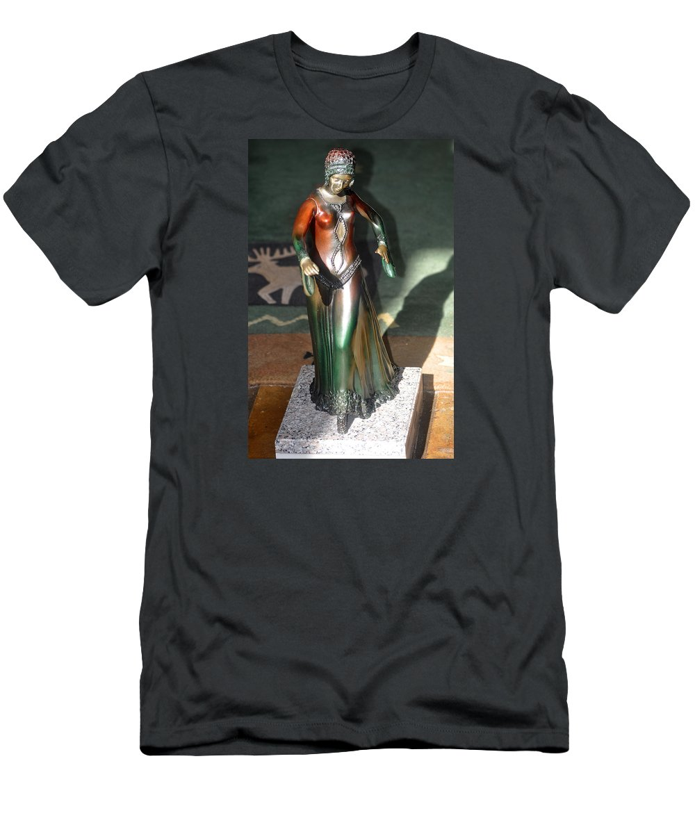 Travel Men's T-Shirt (Athletic Fit) featuring the photograph Bronze Dancer by Jay Milo