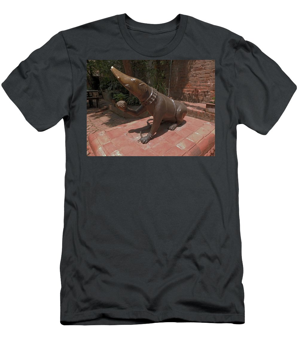 Bronze Men's T-Shirt (Athletic Fit) featuring the photograph Bronze Statue by Pema Hou
