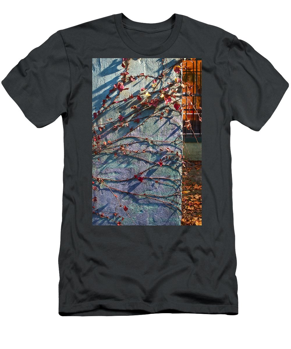 Fall Men's T-Shirt (Athletic Fit) featuring the photograph Brooklyn In Fall 1 by Rosie McCobb