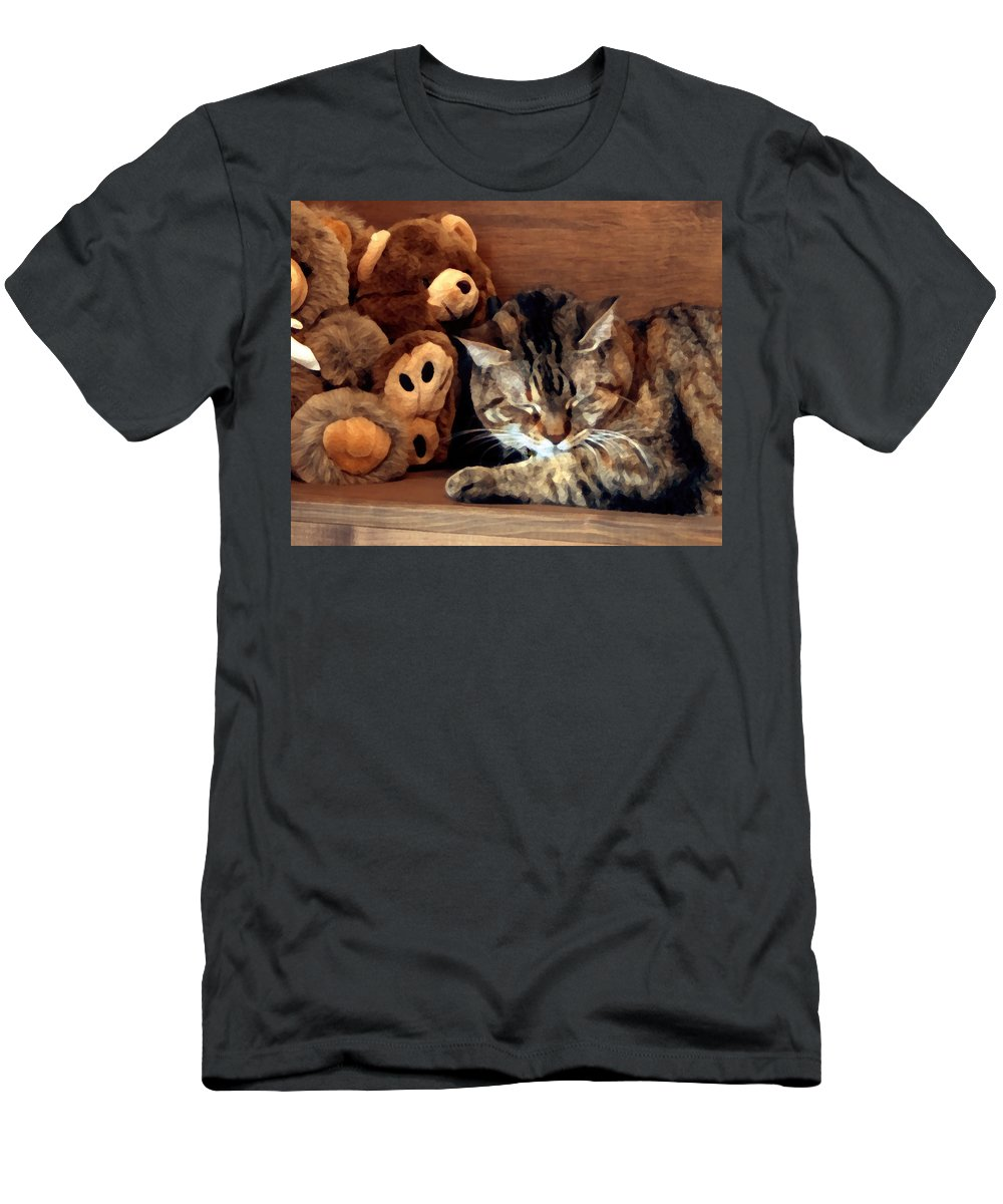Tabby T-Shirt featuring the photograph Brownie by Jeanne A Martin