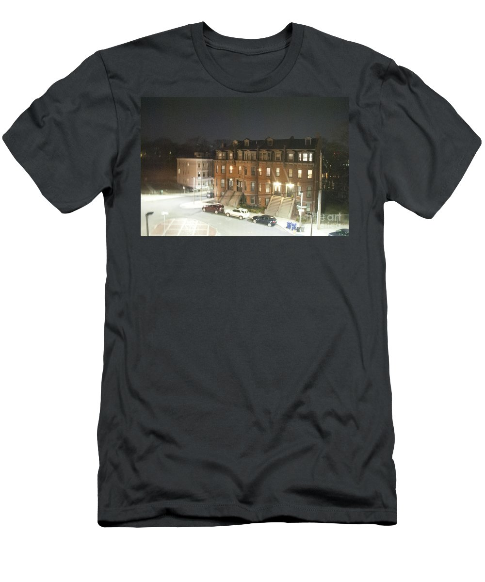 Brownstone Men's T-Shirt (Athletic Fit) featuring the photograph Brownstone by Taylor Webb