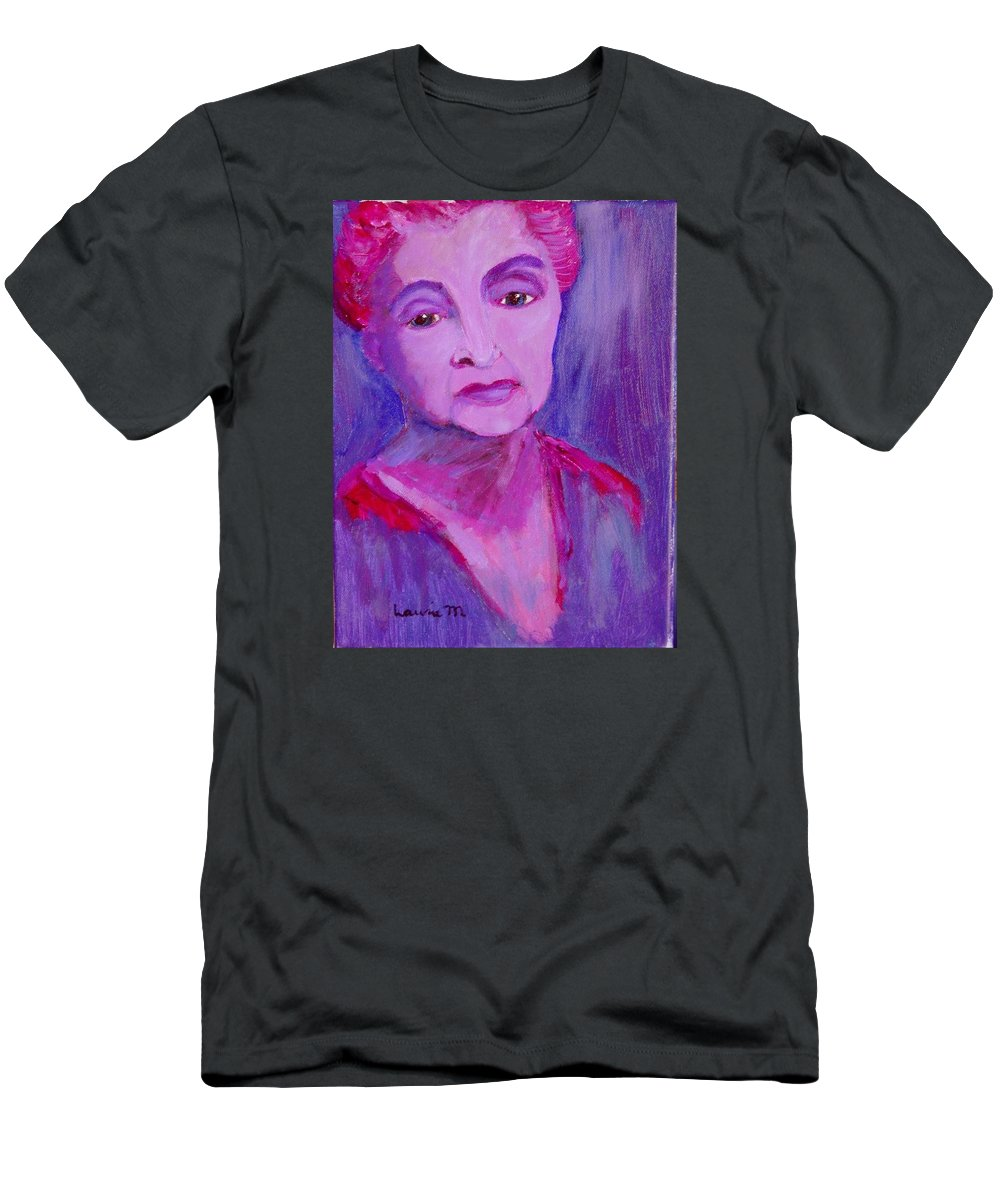 Bubbie T-Shirt featuring the painting Bubbe Hinda by Laurie Morgan