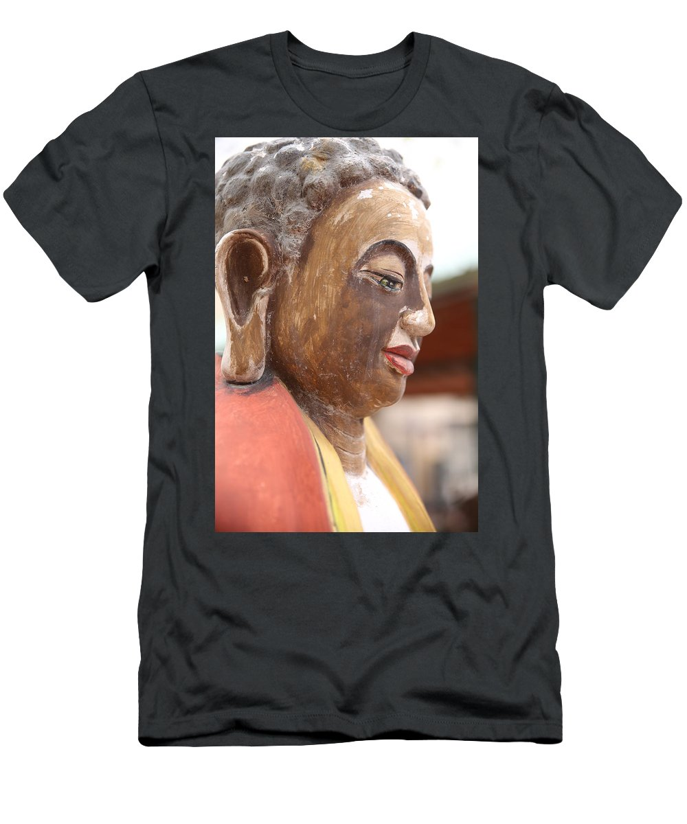Buddha Men's T-Shirt (Athletic Fit) featuring the photograph Buddha 13 by Lynn Sprowl