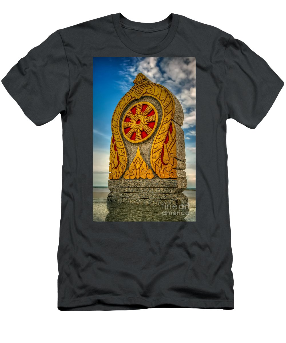 Architecture Men's T-Shirt (Athletic Fit) featuring the photograph Buddhist Icon by Adrian Evans