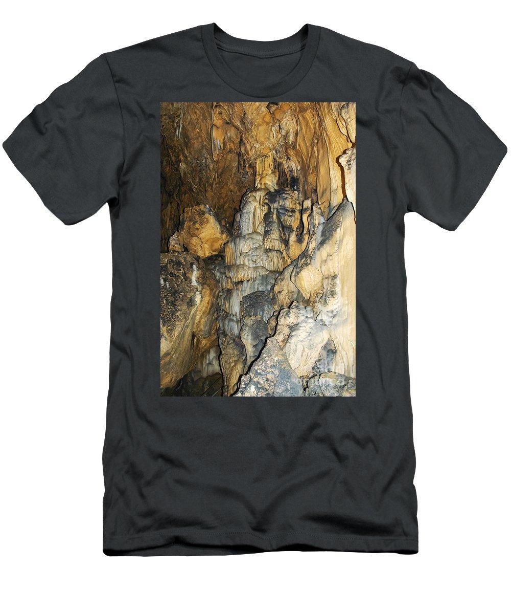 Bulak Cave Caves Cavern Caverns Underground Safranbolu Turkey Men's T-Shirt (Athletic Fit) featuring the photograph Bulak Cave by Bob Phillips