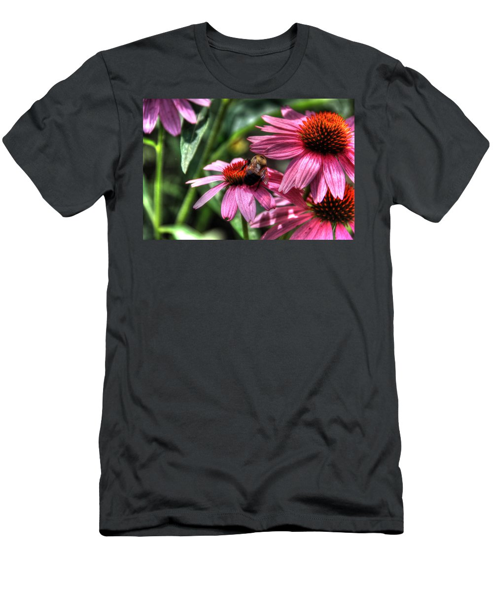 Canon Men's T-Shirt (Athletic Fit) featuring the photograph Bumble Bee by Steven K Sembach