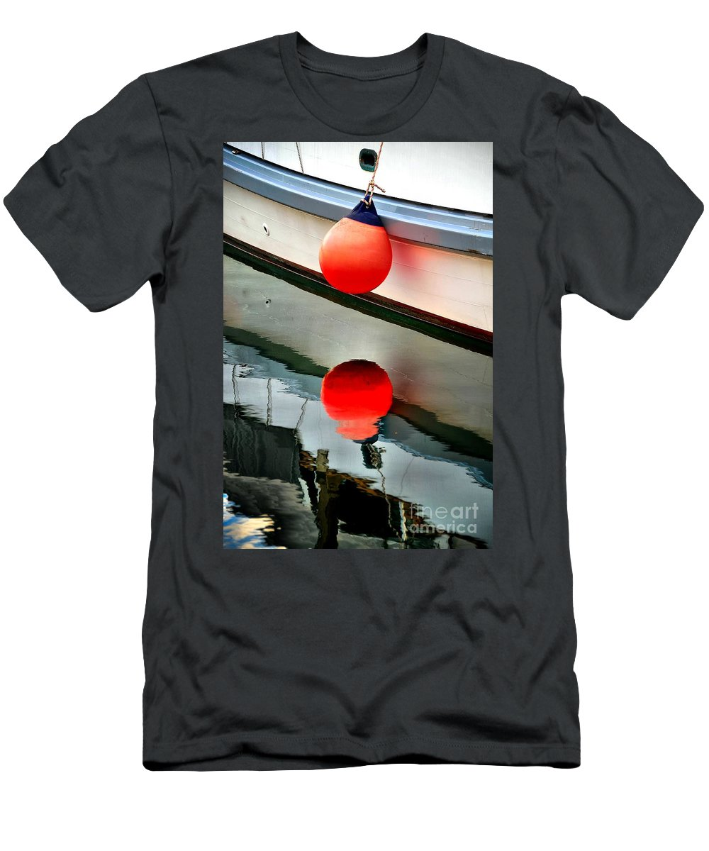 Abstract Men's T-Shirt (Athletic Fit) featuring the photograph Buoy by Lauren Leigh Hunter Fine Art Photography