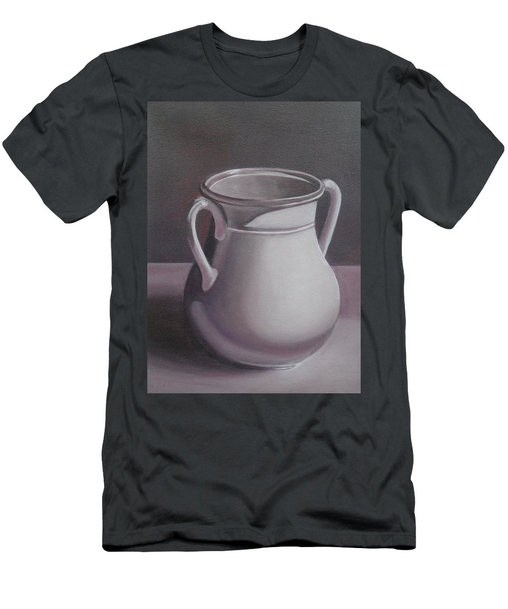 Amphora Men's T-Shirt (Athletic Fit) featuring the painting Burgundy Amphora by Anna Ruzsan