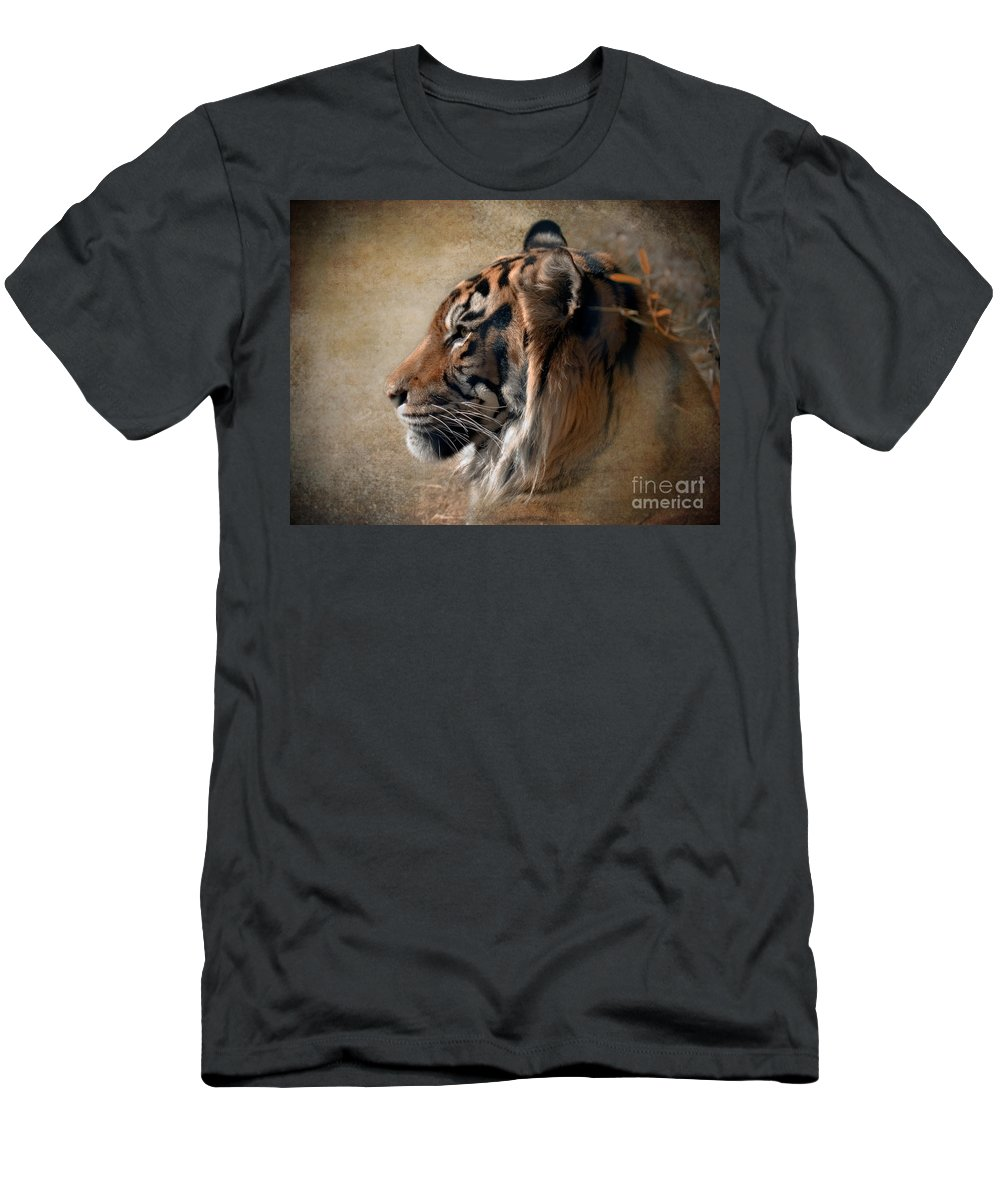 Tiger T-Shirt featuring the photograph Burning Bright by Betty LaRue