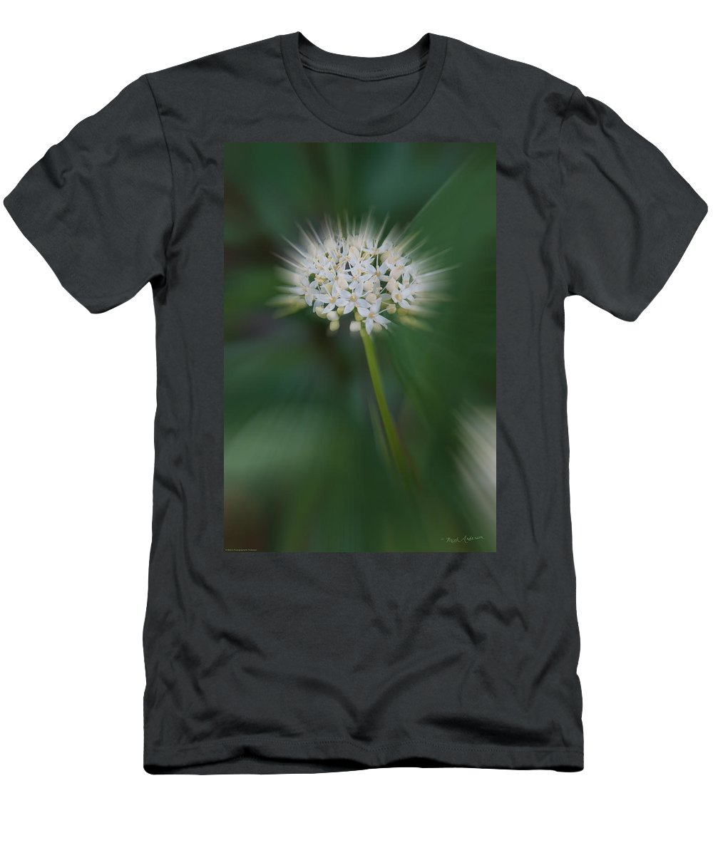Special Effect Men's T-Shirt (Athletic Fit) featuring the photograph Bursting Bloom by Mick Anderson
