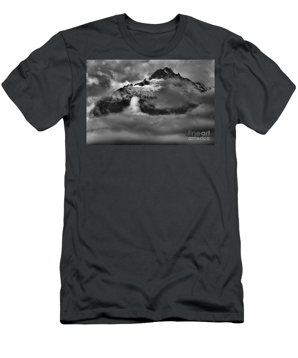 Tantalus Men's T-Shirt (Athletic Fit) featuring the photograph Bursting Thrugh The Clouds by Adam Jewell