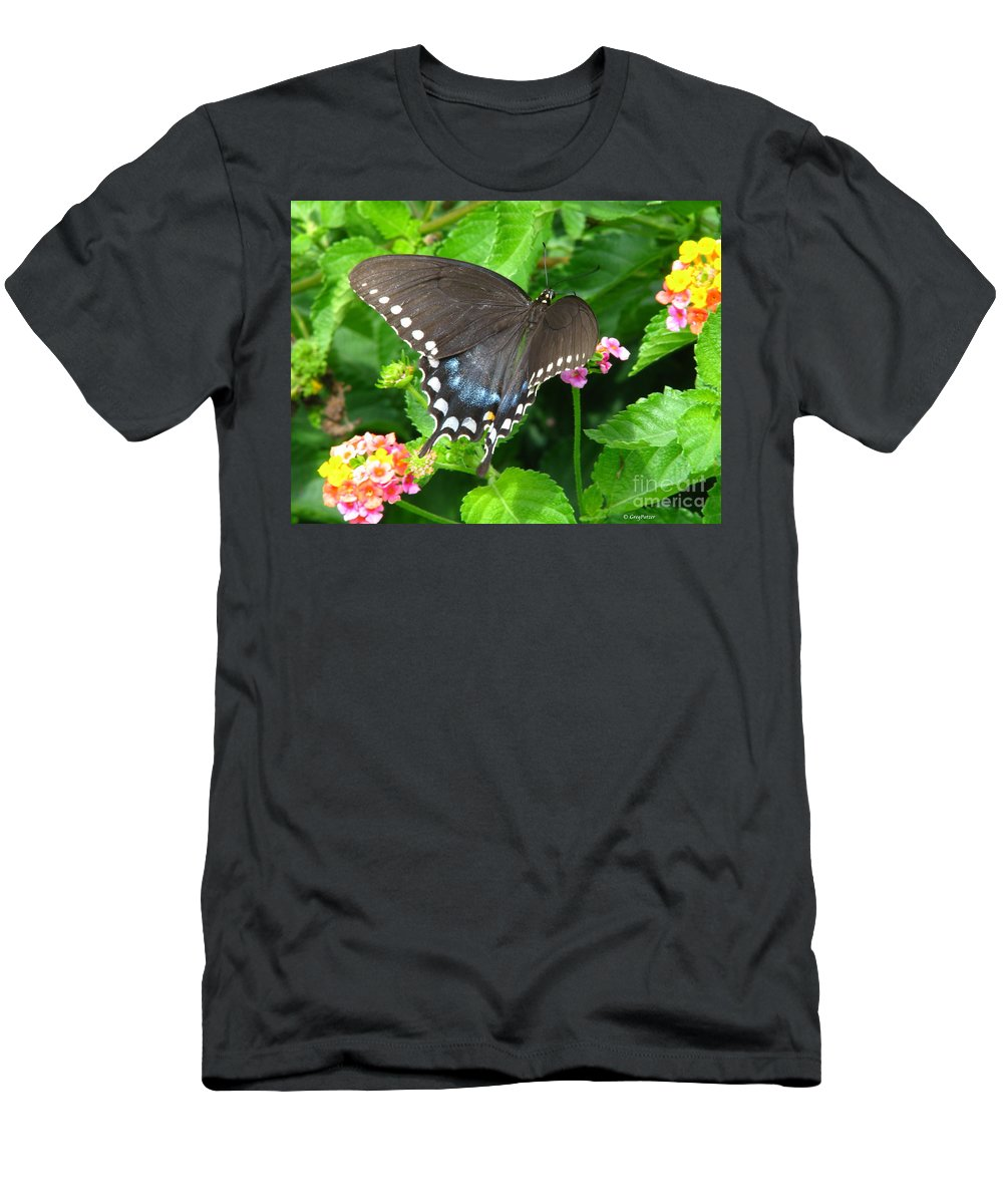 Patzer Men's T-Shirt (Athletic Fit) featuring the photograph Butterfly Ballot by Greg Patzer