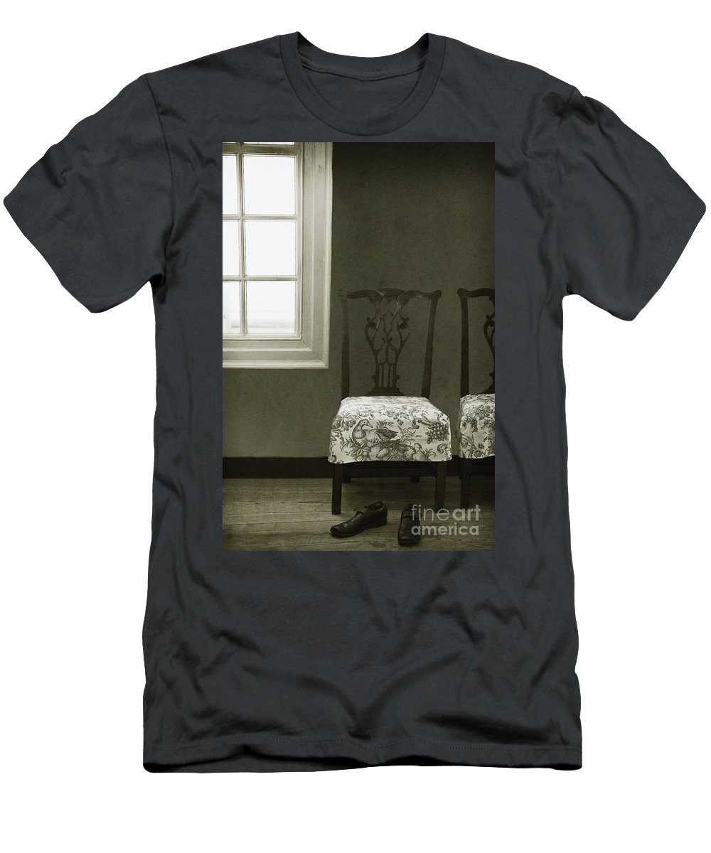 Chairs Men's T-Shirt (Athletic Fit) featuring the photograph By The Window by Margie Hurwich