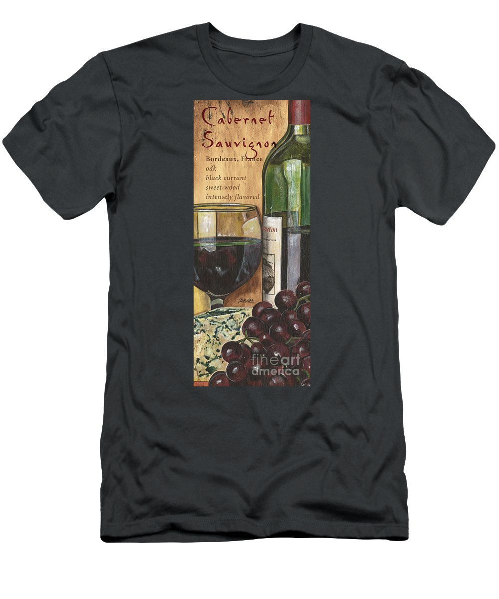 Cabernet T-Shirt featuring the painting Cabernet Sauvignon by Debbie DeWitt