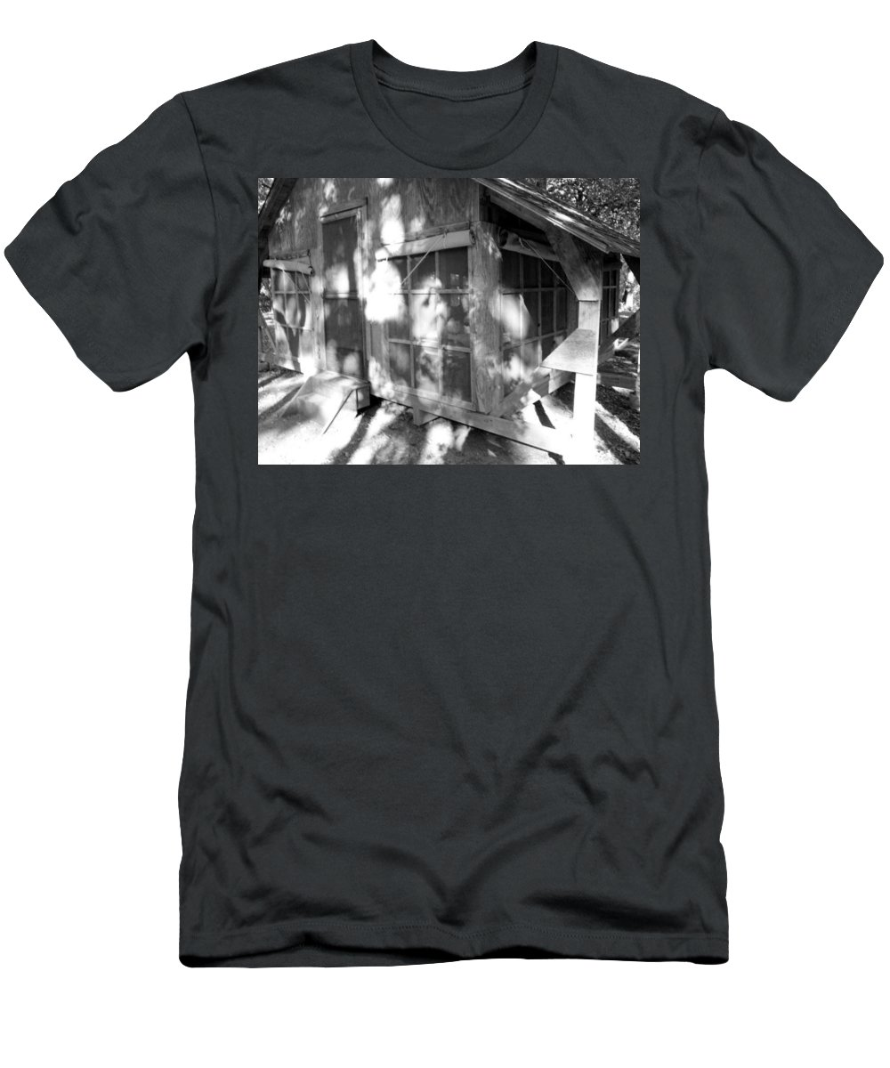 Cabin Men's T-Shirt (Athletic Fit) featuring the photograph Cabin In The Wood by Jackie Austin