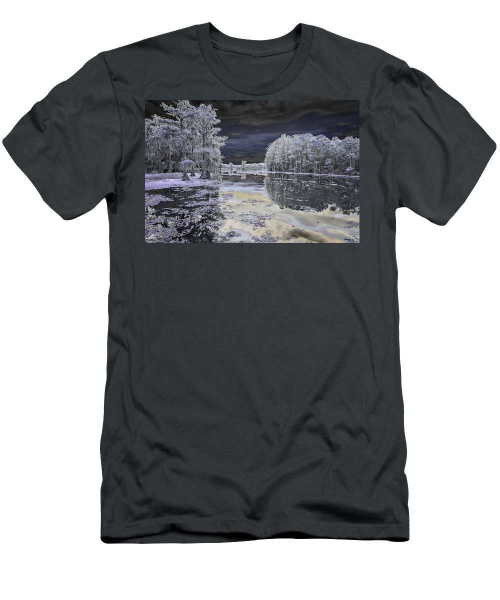 Infrared Men's T-Shirt (Athletic Fit) featuring the photograph Caddo Lake II by John Hesley
