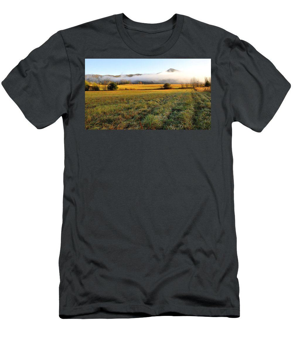 Cades Cove Men's T-Shirt (Athletic Fit) featuring the photograph Cades Cove Valley by Todd Hostetter