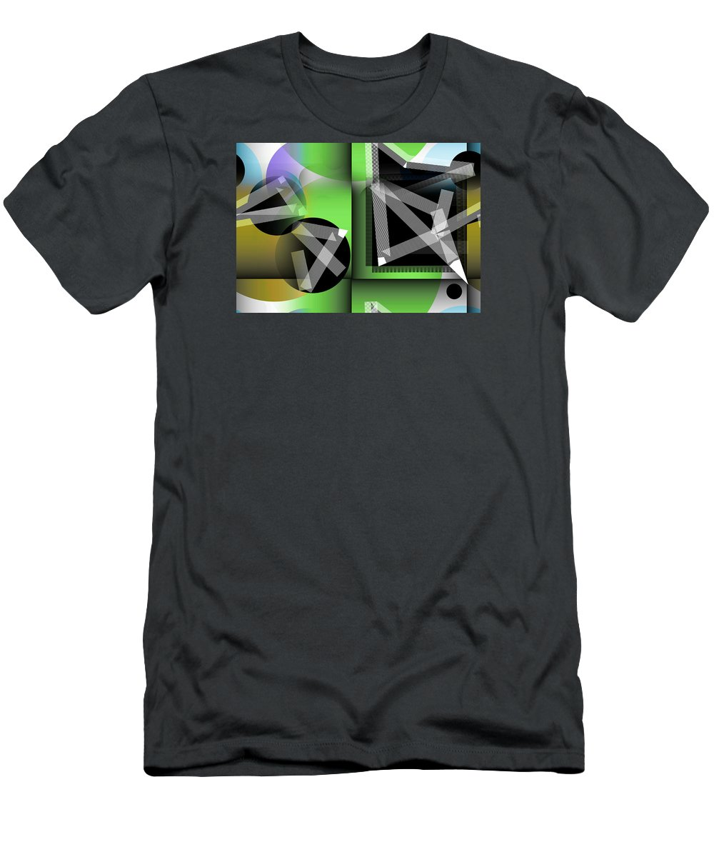 Graphic Art Men's T-Shirt (Athletic Fit) featuring the digital art Calculated Measures by Raul Ugarte